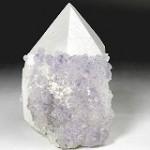 フローライト付き水晶