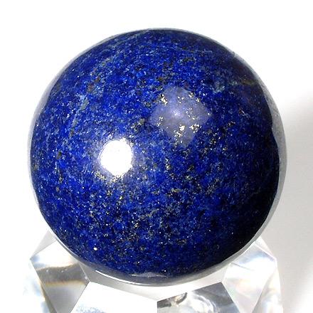 濃い色合いのラピスラズリ丸玉(瑠璃石)