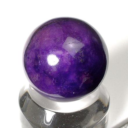 青紫色のスギライト丸玉