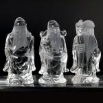 水晶彫刻 福禄寿