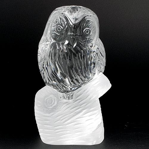 水晶彫刻フクロウ