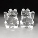 水晶彫刻 招き猫