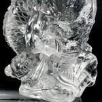 水晶彫刻「龍」