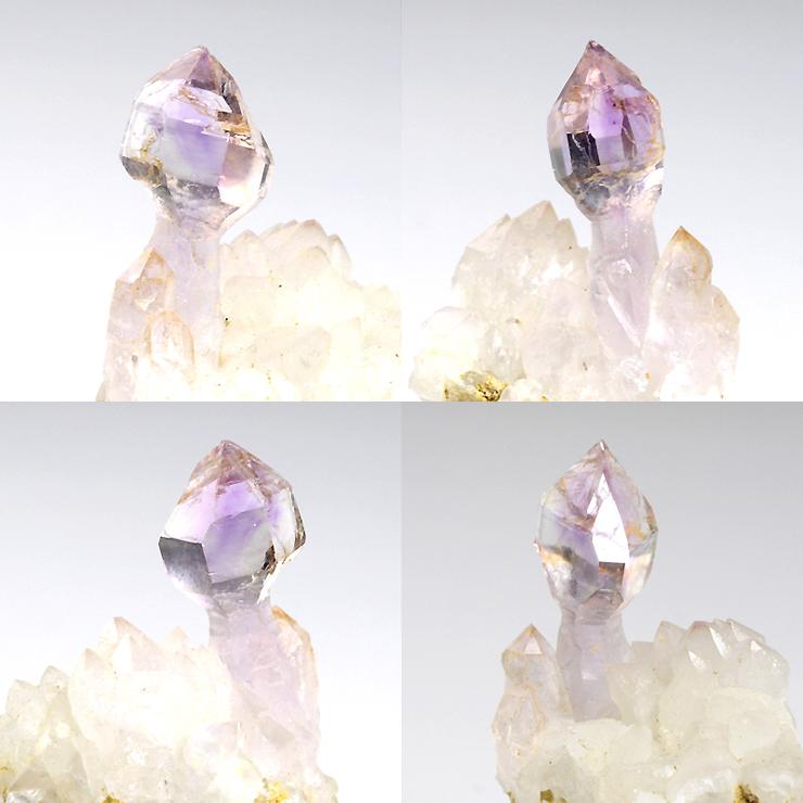 先端部の透明感は抜群で紫色の色合いも比較的濃いめです