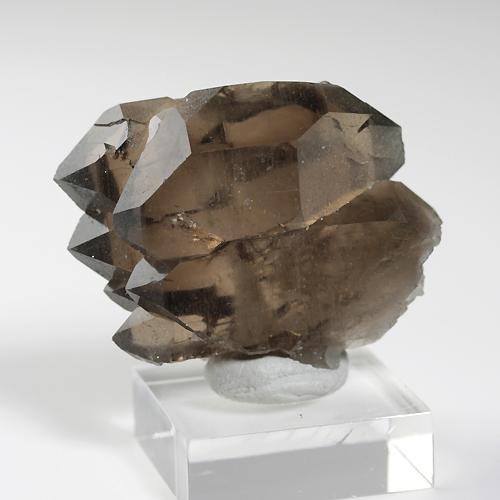 スモーキー、ファーデン水晶(モンブラン産)